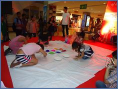 kids try their hand at rangoli making with out kids contest