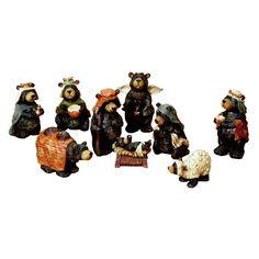 Kurt Adler 9 Piece Nativity Bear Set - J3383