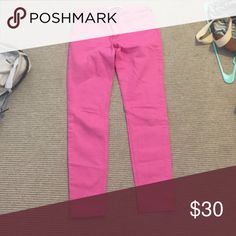 NWOT hot pink jeans Hot pink skinny jeans Abercrombie & Fitch Jeans Skinny