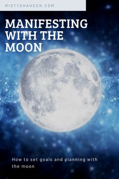 Hit your goals more easily and faster when you align with the moon. Learn how to manifest with the moon