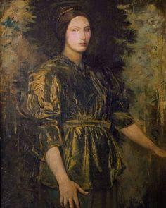 Abbott Handerson Thayer - Woman in Green Velvet