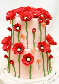 redflowerscake02 by Paige Fong, via Flickr