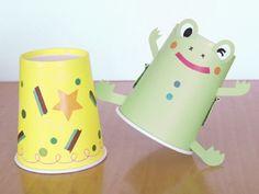紙コップで簡単!跳ねるカエルのおもちゃの作り方 [工作・自由研究] All About
