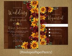 Most current Photographs Romantic Sunflower Rustic Fall Wedding Invitation,Sunflowers,Burgundy Roses,Barn. Style Wedding Invitation Cards-Our Ideas Once the time of one's wedding is set and the Area is booked, o Wedding Sets, Wedding Themes, Our Wedding, Wedding Venues, Wedding Decorations, Trendy Wedding, Elegant Wedding, Romantic Weddings, Vintage Weddings