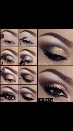 Eye Makeup Glitter, Golden Eye Makeup, Orange Eye Makeup, Pretty Eye Makeup, Dramatic Eye Makeup, Eye Makeup Steps, Cat Eye Makeup, Smokey Eye Makeup, Make Up Ojos