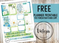 Free Printable Magnolia Planner Stickers from Victoria Thatcher
