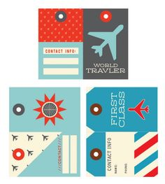 Fun printable luggage tags you can use for pre-trip student meetings