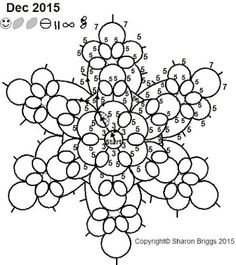 Sharon's Tatted Lace: Snowflake pattern uploaded
