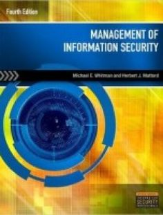 Management of Information Security 4th Edition PDF Download here