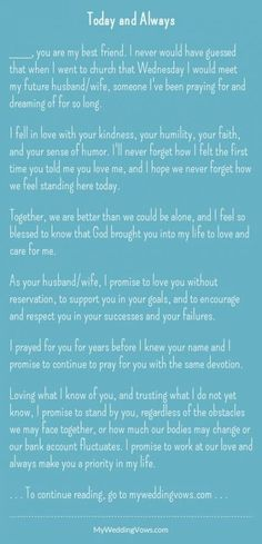 Ideas Wedding Quotes To A Friend Getting Married Future Husband before wedding quotes Ideas Wedding Quotes To A Friend Getting Married Future Husband Best Wedding Vows, Wedding Vows To Husband, Our Wedding Day, Wedding Ceremony, Trendy Wedding, Wedding Ideas, Second Weddings, Blue Weddings, Wedding Rustic
