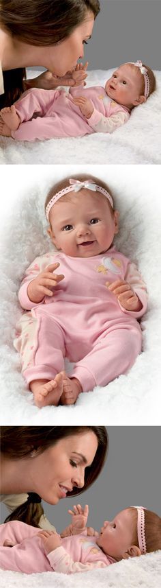 Capture the joys of a baby's bedtime routine with this adorable realistic baby girl doll! Cute Baby Dolls, Baby Girl Dolls, Reborn Baby Dolls, Cute Babies, Baby Kids, Bedtime Routine Baby, Baby Bedtime, Ashton Drake, Marie Osmond
