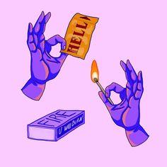 One ticket to hell please 👿😈 . One Ticket, Illustration Art, Illustrations, Drawing S, Digital Art, Fire, Artwork, Instagram, Work Of Art