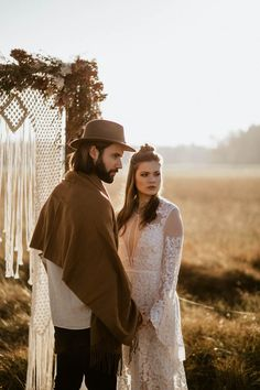 Folksy + vintage bride and groom style in this elopement inspiration   Image by Chris and Ruth Photography