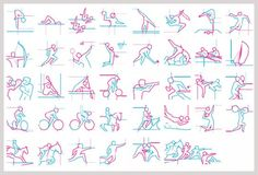 Evolution of Olympic Pictograms 1964 - 2012 (click photo)