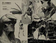 Vagabond by Sergey Kolesov Drawing Sketches, Cool Drawings, Sketching, Sergey Kolesov, Youtube Music Converter, Sketches Tutorial, Art Station, Matte Painting, Quick Sketch