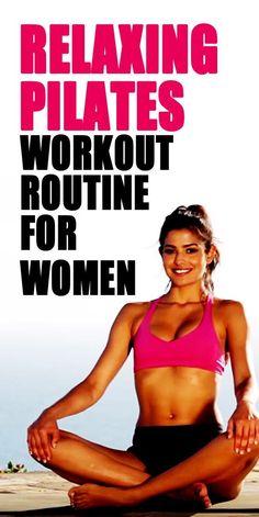 Calming and relaxing beginner's 40 min full body Pilates workout routine for women. Pilates Workout Routine, Workout Routines For Women, Pilates Abs, Fitness Tips, Fitness Motivation, Yoga Fitness, Pilates For Beginners, Beginner Pilates, Best Abdominal Exercises