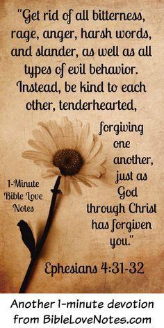 Live in peace Forgiveness