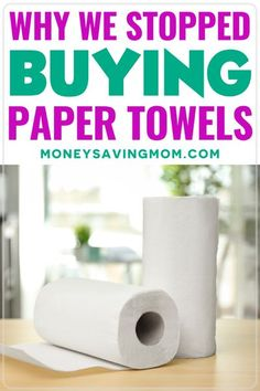 If you have a grocery list on a budget, here is one item you can take off of your list - paper towels! You may consider them a necessity, but read how we stopped buying them and how we live… More