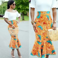 African Print Skirt Styles Inspirations To Try Out Before 2017 Ends