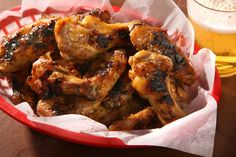 A recipe for slightly sweet and spicy chicken wings that go great with beer.