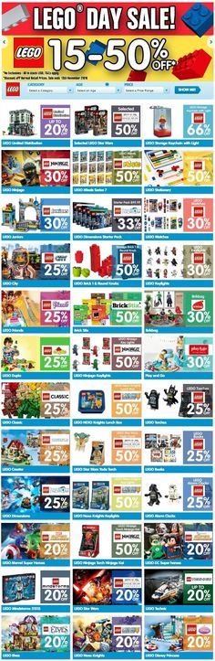 15-50% OFF LEGO Day Sale @ Toyco - Bargain Bro