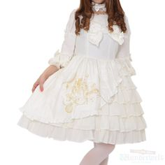 ♡ Angelic pretty ♡ White ruffle dress http://www.wunderwelt.jp/products/detail1593.html ☆ ·.. · ° ☆ How to buy ☆ ·.. · ° ☆ http://www.wunderwelt.jp/user_data/shoppingguide-eng ☆ ·.. · ☆ Japanese Vintage Lolita clothing shop Wunderwelt ☆ ·.. · ☆ #andelicpretty