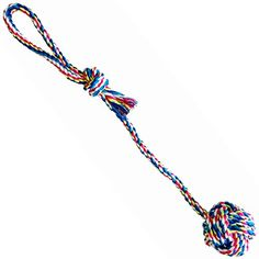 WAF Rope Tug Toy 17 Cotton Rope Dog Chew Toy 2 Ball for Chewing Tugging Playing * Details can be found by clicking on the image. (Note:Amazon affiliate link)