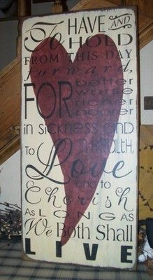 PRIMITIVE VALENTINE SIGN