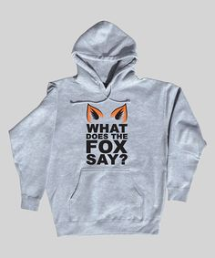 'What Does the Fox Say'? Hoodie for Men.