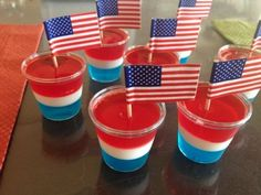 "Red, white and blue jello shots scream, ""This is going to be a fun party!"""