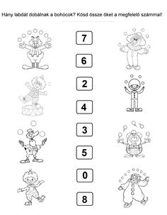 Coloring Worksheets For Kindergarten, Worksheets For Kids, Math Worksheets, Pre School, School Days, Clown Crafts, Days Of Week, Classroom, Clip Art