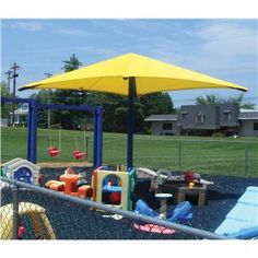 Single-Post style, a perfect application in an area where minimal posts are needed. Providing shade is critically important due to ever changing weather conditions as well as the increasing awareness of skin cancer caused by the harmful Ultra-Violet rays from sunlight. Sun Ports' cost-effective and aesthetically appealing fabric shade structures are used to shade Parks, Playgrounds, Schools, Daycare Centers and much more.