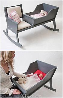 Luxury furniture for the nursery. Stylish baby cot and seat for the babies nursery and bedroom. Baby Gadgets, Fun Gadgets, Everything Baby, Baby Kind, Baby Furniture, Luxury Furniture, Having A Baby, Rocking Chair, Future Baby