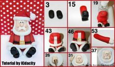 Fondant Santa Tutorial by Kidacity - The Cake Directory - Tutorials and More