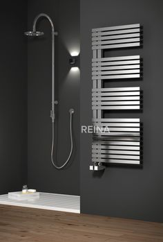 003ff0878 REINA ENTICE STAINLESS STEEL HEATED TOWEL RAILS Stainless Steel Radiators