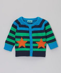 Another great find on #zulily! Dress Blue Star Cardigan - Infant by Me Too #zulilyfinds
