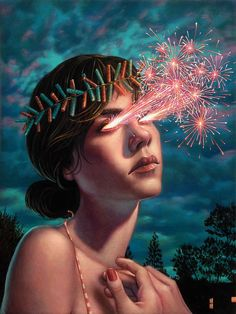"Casey Weldon Paints Glowing, Supernatural Subjects in ""Tropefiend"" 