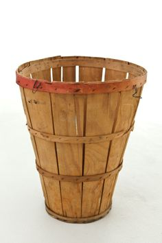 "fruit bushel basket - tall rustic, earthy, functional. perfect for: a single umbrella stand. dimensions: 19.5 ""x 16"" d (top) x 10 ""d (base)"