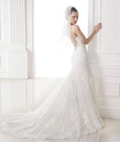 MARILIA - Dress with sheer back. Collction 2015 FASHION | Pronovias