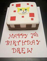 Mine Craft Cake Stampy Cat (daniyellee) Tags: birthday cake cat block stampy fondant minecraft