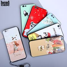 Head Case for iPhone 6 6s 7 7 Plus Shockproof Tpu Painted Cartoon Phone Bags Cases for iPhone 6 6s Back Cover Cute Fundas Coque
