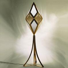 Gabriella Crespi, Brass and Plexiglass Floor Lamp, c1970.