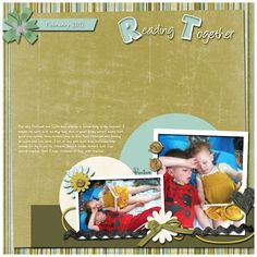 Reading Together premade scrapbook page