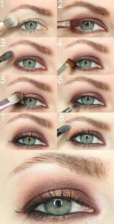 This is how you make up deep-set eyes properly! 8 Make-up tips .- So schminken Sie tiefliegende Augen richtig! 8 Schminktipps und Beispiele This is how you make up deep-set eyes properly! 8 make-up tips and examples make up up - Makeup For Hooded Eyelids, Eyeshadow For Hooded Eyes, Hooded Eye Makeup Tutorial, How To Apply Eyeshadow, Eye Shadow Hooded Eyes, Make Up Hooded Eyes, Eyeliner For Small Eyes, Eyeliner Tutorial, Eye Tutorial