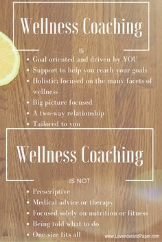 What wellness coaching is and is not