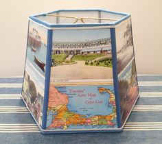 Cape Cod Lampshade Postcard Lamp Shade Vintage by lampshadelady