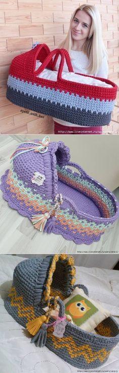 Вязаная корзина для ребенка