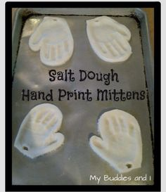Salt Dough Hand Print Mitten Ornament