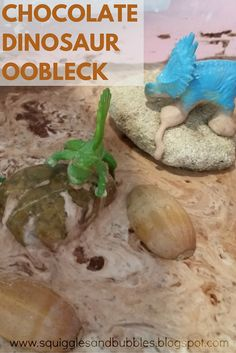 Squiggles and Bubbles: Chocolate Dinosaur Oobleck
