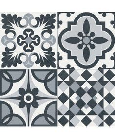 HERITAGE BLACK/WHITE 33X33 - SQM